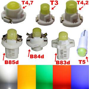 T3 T4.2 T4.7 T5 B85d LED COB - weiß blau rot gelb grün - Tachobeleuchtung Tacho