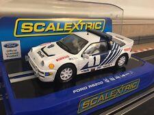 Scalextric Ford RS200 Stig Blomqvist Rally Suecia 1986 desarrollado y luces (C3493) NUEVO