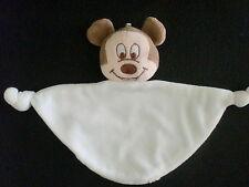 doudou plat Mickey blanc 2 noeuds