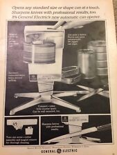 1965 Electric Can Opener  - General Electric Ad Vintage VTG