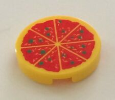 *NEW* 2 Pieces Lego Minifig Food YELLOW PIZZA 2x2 Round Tile