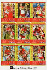 2009 AFL Teamcoach Trading Card Gold Parallel Team Set Sydney (11)