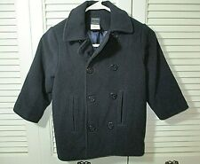 T.F. Laurence Navy Blue Nautical Wool/Cashmere Coat Boys Youth 4