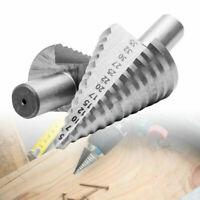 5-35mm Titanio Passo Scanalatura A Spirale Conica Trapano Bit HSS Foro Cutter