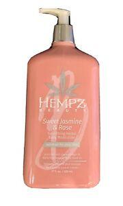 Hempz Beauty Sweet Jasmine & Rose Smoothing Herbal Body Moisturizer Lotion 17oz