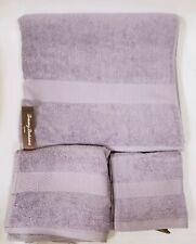 NEW TOMMY BAHAMA 3 PC SET CYPRESS LILAC PURPLE COTTON BATH+HAND TOWEL+WASH CLOTH