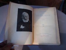 antique books works of victor Hugo 1888 Le miserable 3 93 history crime poems
