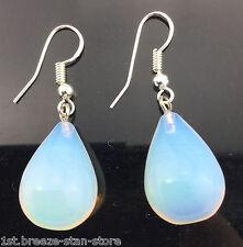 Opalite Opal Crystal Quartz Teardrop pendant earrings hook shiny hot sell fine