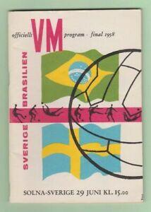 Orig.PRG  World Cup SWEDEN 1958  FINAL  SWEDEN - BRAZIL  !!!!  A TRUE RARITY