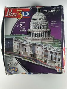 Puzz3D 3D Puzzle of the US Capitol Building - 764 Pieces. Complete. Pre Owned.
