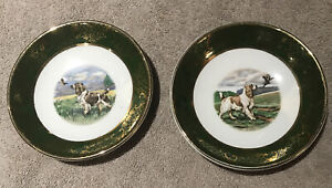 Weatherby Hanley Royal Family Small Plates Dish Pair Springer Spaniel