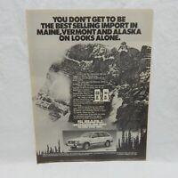 SUBARU WAGON VINTAGE ADVERTISING MAGAZINE PAGE OCTOBER 12,1981