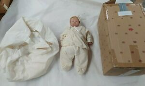 Handcrafted Realistic Baby Doll with Fabric Carry Basket Reborn? 46cm Length