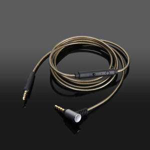 Silver Audio Cable with mic For klipsch reference on-ear over-ear headphones