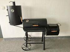 (ABC)  Smoker TEXAS mit extra RÄUCHERKAMMER  BBQ Grill  NEU  Stahl ca. 75kg