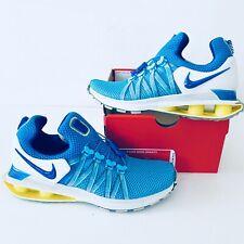 NEW Nike Shox Womens Size 9 Gravity Blue Yellow White Running Shoe $150