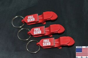 FULL SEND SHOTGUN KEY CHAIN | Beer Bong for Cans | 3-PACK | Red | MADE IN USA