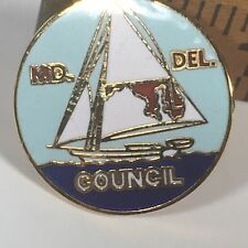"""Maryland Delaware Council Carpenters Union Lapel Pin Tie Pin Hat Pin 1"""" Vintage"""