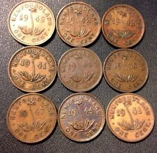 Vintage Canada Coin Lot - NEWFOUNDLAND - 1938-1947 - 9 Uncommon Coins - Lot 713