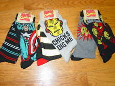 6 Pairs Mens Socks 10-13 Shoe 6-12 Marvel HYP Crew Ironman Captain America Adult