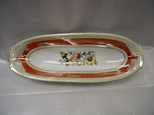 German  22 Oval Flowered Dish With Gold Trim