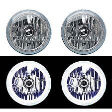 "7"" White COB LED Halo Angel Eye H4 6k Headlamp Headlight Halogen Light Bulb Pair"