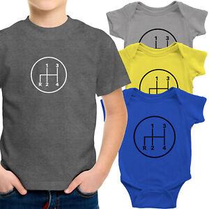 4 Speed Manual Transmission Toddler Kids Tee Youth T-Shirt Infant Baby Bodysuit