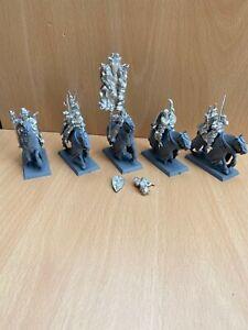 Warhammer Fantasy Battle Bretonnian Questing Knights x 5 - Metal
