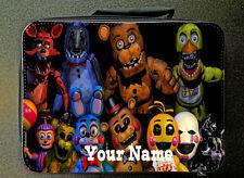 Negro Personalizado Five Nights At Freddy Estilo Bolsa de Almuerzo Aislado 24CM X 18CM