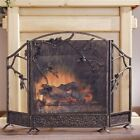 SPI Pinecone Triple Panel Fireplace Screen  (Cast Iron)  ~~ FREE SHIPPING ~~