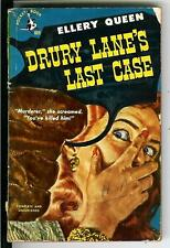 DRURY LANE'S LAST CASE by Ellery Queen, rare US Pocket 1st crime pulp vintage pb