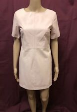 "WHITE SUEDE LEATHER DRESS ~ SIZE 8 ~ BRAND NEW W/ TAGS "" ANGULAR MINI DRESS """