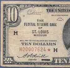 "1929 $10 FRBN ""ST. LOUIS""  ♚STAR♚    ♚STAR♚   PCGS FINE 12"