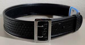 BIANCHI 7960 Size 32 Black Basketweave Accumold Elite SAM BROWNE Duty Belt 22217