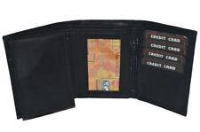 Cartera apaisada/de bolsillo de hombre en color principal negro