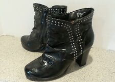 Vigoss black ankle boots with silver studs women's 8.5m
