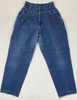 Vtg 90's Lee Womens Jeans High Rise Pleated Tapered Leg USA Made Sz 12M 27 x 26