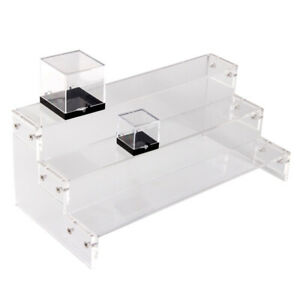 Clear Storage Box Acrylic Display Stand for Quartz Crystal Container Holder Base