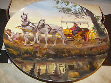 SURREY WITH FRING ON TOP by Mort Kunstler #2 Oklahoma! 1985 Collector Plate COA