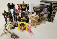 MMPR Power rangers lot Ninja, Frog Zords Wild Force Alpa 5 scoops more Bandai