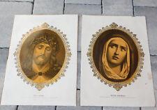 1880 CHROMO-LITHOGRAPHIE F.C.Wentzel WISSEMBOURG mater DOLOROSA ecce HOMO jesus