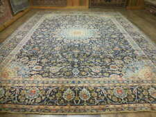 1950 Hand Made Clasic Naein Nain Habibiyan Esfahann Design 10x13 Estate Sale Rug