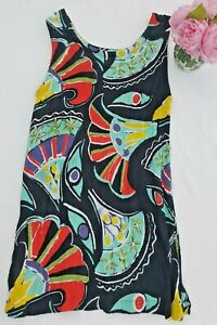 Ladies French Connection Modern Art Pattern Sleeveless Crinkle Effect Top Size M