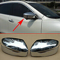 For Nissan Rogue X-Trail Chrome Side Door Rearview Mirror Cover Trim Accessories