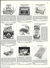 1956 ADVERT Toy Northwestern Boxing Toy Game Electric Baseball Football Slugger