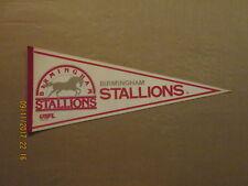 USFL Birmingham Stallions Vintage Defunct Circa 1982 Logo Football Pennant