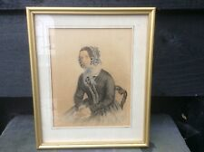 Antique Miniature Watercolour Portrait. 1868