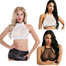 Women Sheer Push Up Bra Wire free Sexy Bralette Crop Tops Lingerie Sleepwear