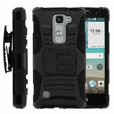 For LG Spirit 4g LTE C70 H440N Holster Clip Stand Heavy Duty Black Case