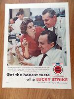 1959 Lucky Strike Cigarette Ad Newspaper Reporters
